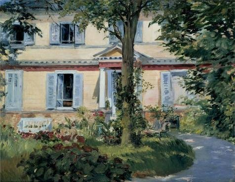[The Perfect Effect Canvas Of Oil Painting 'Edouard Manet-The House At Rueil,1882' ,size: 24x31 Inch / 61x79 Cm ,this Best Price Art Decorative Prints On Canvas Is Fit For Living Room Decor And Home Gallery Art And Gifts] (Stock Coconut Shell Necklaces)