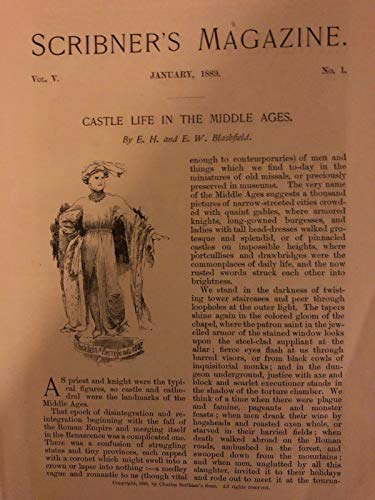 1889 Castle Life in the Middle Ages Knights Armor illustrated (Best Armor In History)