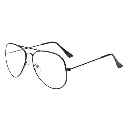 7dfcecae340c Amazon.com  Simayixx Hot sale!2018 Fashion Retro Men Women Clear Lens  Glasses Metal Spectacle Frame Myopia Eyeglasses Lunette Fe (Black)  Sports    Outdoors