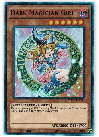 (Yu-Gi-Oh!! - Dark Magician Girl (YGLD-ENB03) - Yugi's Legendary Decks - 1st Edition - Ultra Rare)