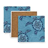 SLHFPX Tribal Aztec Sea Turtle Coasters, Protection