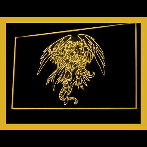 100051 Devil Angel Tattoo Design Death Wing Display LED Light Sign