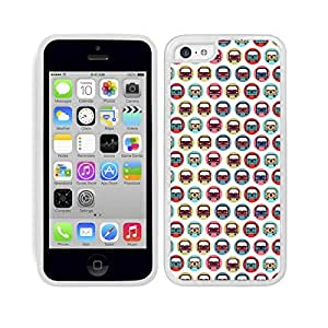 FUNDA CARCASA TPU GEL PARA IPHONE 5C DISEÑO ESTAMPADO FURGONETA MODELO CALIFORNIA DE COLORES MOD.2