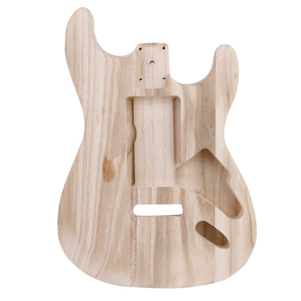 Electric Guitar Unfinished Body, Maple Wood Unfinished Electric Guitar Body DIY Musical Instrument Accessory