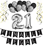21st Birthday Party Pack %2596 Black  an