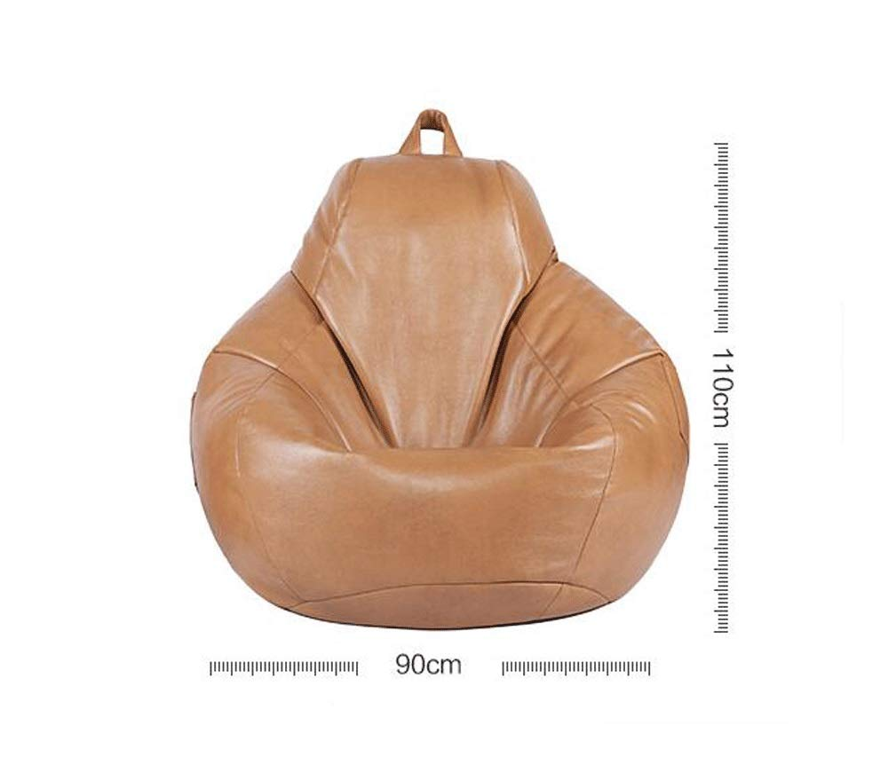 Lazy Sofa PU Leather Bean Bag Color : Brown SXHDMY Game Bean Bag Designer Recliner Leather Creative Hotel Apartment Free Washable Bean Bag Sofa Lazy Sofa