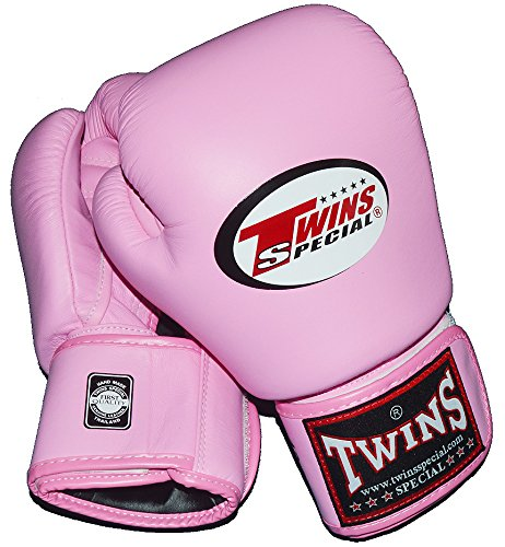 TWINS本革製ボクシンググローブ ピンク GRTW3200【DVD付 ボクシング、ムエタイ世界王者トレーニング】  14oz