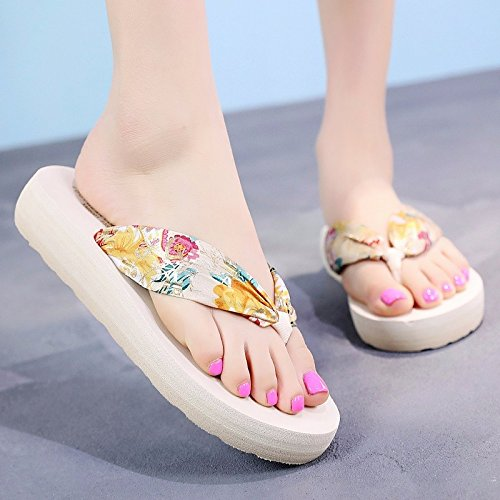flip flops slippers LIUXINDA cool feet rainbow bottom slippers thick Fashion tide sandals shoes XZ beach Summer YXwqqgSI