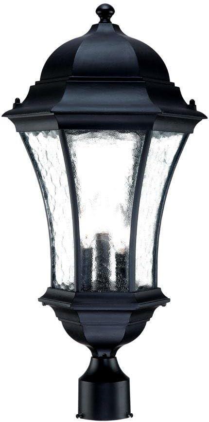 Acclaim 5277BK Dover Collection 1-Light Post Mount Outdoor Light Fixture Matte Black