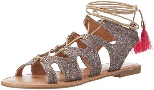 Buffalo Shoes 315719 Xq-818-48 10#Glitter, Sandalias con Cuña Para Mujer Multicolor (MULTI 01)
