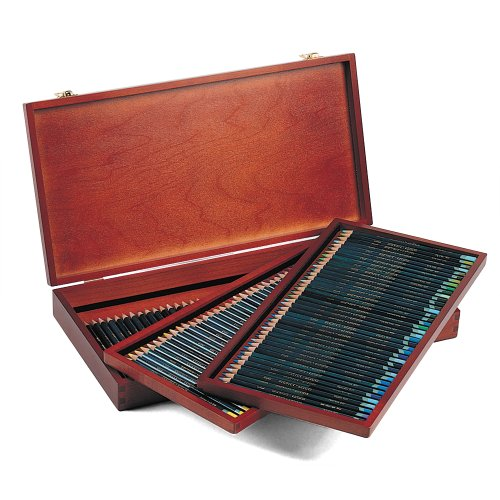 Derwent Artists Colored Pencils, 4mm Core, Wooden Box, 120 Count (32098) by Derwent