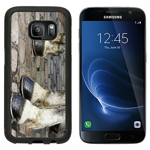 msd-premium-samsung-galaxy-s7-aluminum-backplate-bumper-snap-case-image-with-two-pair-of-white-horse