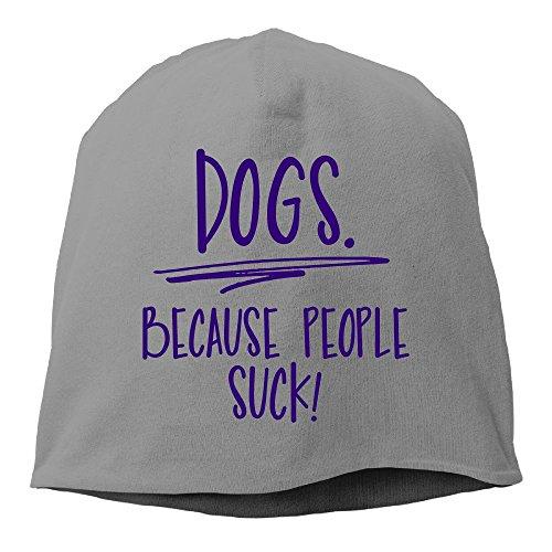 (Dogs Because People Suck Novelty Hipster Beanie Cap&Hip-hop Cap&Set Head Cap&Skull Cap&Toboggan Cap for Man's Women's)
