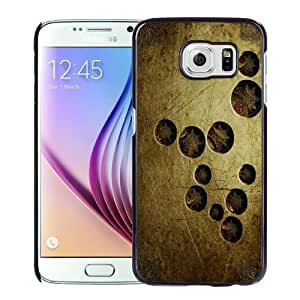 NEW Unique Custom Designed Samsung Galaxy S6 Phone Case With Scratched Metal Surface Holes_Black Phone Case