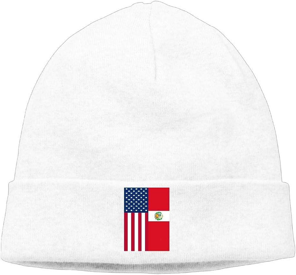 Cgi03T-2 Daily Woolen Cap for Unisex Peru American Flag Stocking Cap