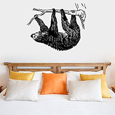 Sloth Silhouette Vinyl Wall Decal Sticker Graphic - Sloth Wall Art