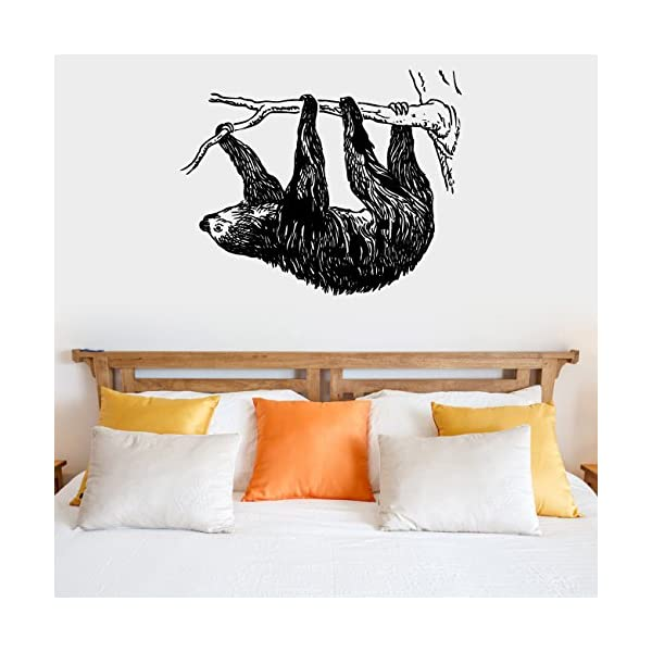 Sloth Silhouette Vinyl Wall Decal Sticker Graphic -