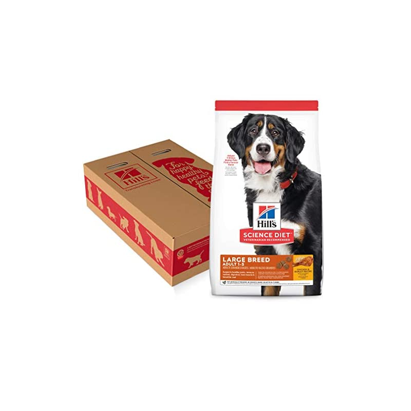 dog supplies online hill's science diet dry dog food, adult, large breed, chicken & barley recipe, 35 lb bag