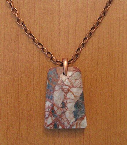 Red Zebra Jasper Pendant Necklace