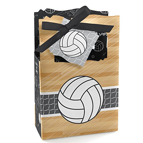 Bump, Set, Spike - Volleyball - Baby Shower or Birthday Party Favor Boxes - Set of 12 ()