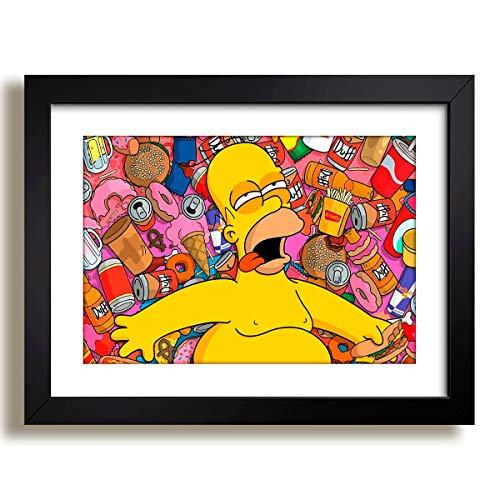 Quadro Simpsons Serie Filme Tv Decorativo Sala Bar Quarto Paspatur Pronto para Pendurar