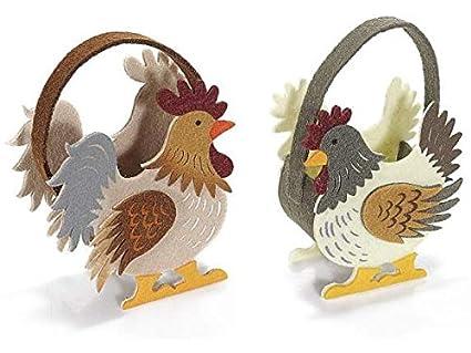 Idee Pasquali In Feltro : Idea pasqua.. 2 .coccode cestini in feltro cestino primavera