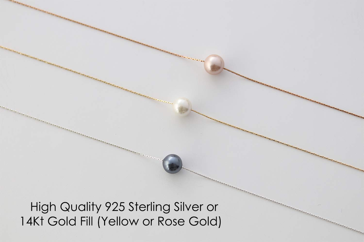 Single Pearl Necklace Pregnancy Gift idea for Expecting new mom to be