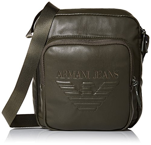Armani Jeans Men's Crossbody Bag with Embossed Logo by ARMANI JEANS