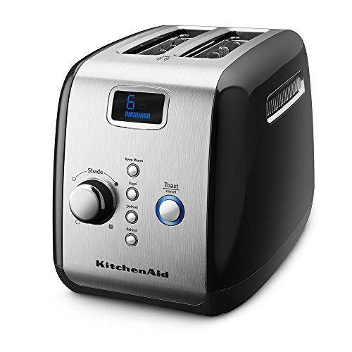 KitchenAid KMT223OB 2-Slice Toaster with One-Touch Lift/Lower and Digital Display - Onyx Black (Kitchenaid Black Toaster Oven compare prices)