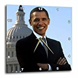 3dRose Close Up Portrait of Pres Obama Front of Capital – Wall Clock, 13 by 13-Inch (dpp_43733_2) Review