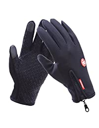 Golovejoy Unisex Touchscreen Gloves Waterproof Cycling Riding Fishing