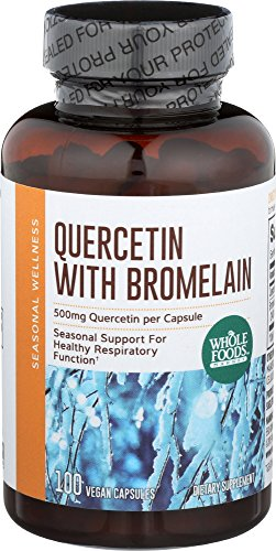 Whole Foods Market, Quercetin w/ Bromelain, 100 ct