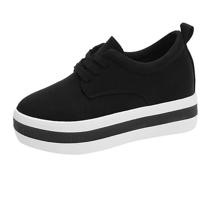 45138b2107daf Amazon.com: Moonker Spring Women Flats Fashion Climbing Shoes ...