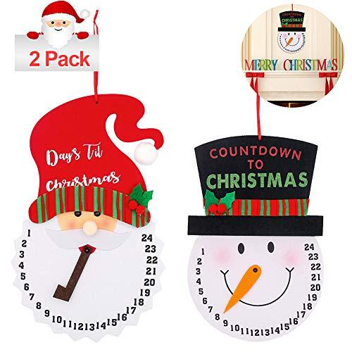 [해외]Hushtong 2Pcs Santa Countdown and Snowman Advent Calendar for Christmas Decoration Door Tree WallDays Until Christmas Countdown / Hushtong 2Pcs Santa Countdown and Snowman Advent Calendar for Christmas Decoration Door Tree Wall,Day...