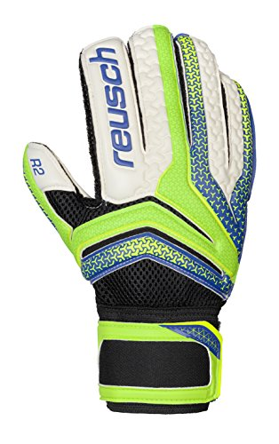 Reusch Soccer Serathor Prime R2 Goalkeeper Gloves, Green/Blue, (Indoor Soccer Goalie)