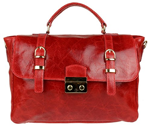 Girly HandBags Patent Suede Satchel