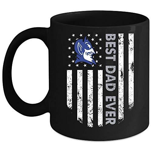 Duke Blue Devil Mug, Best Dad Ever Cup (Coffee Mug 15 Oz - Black)