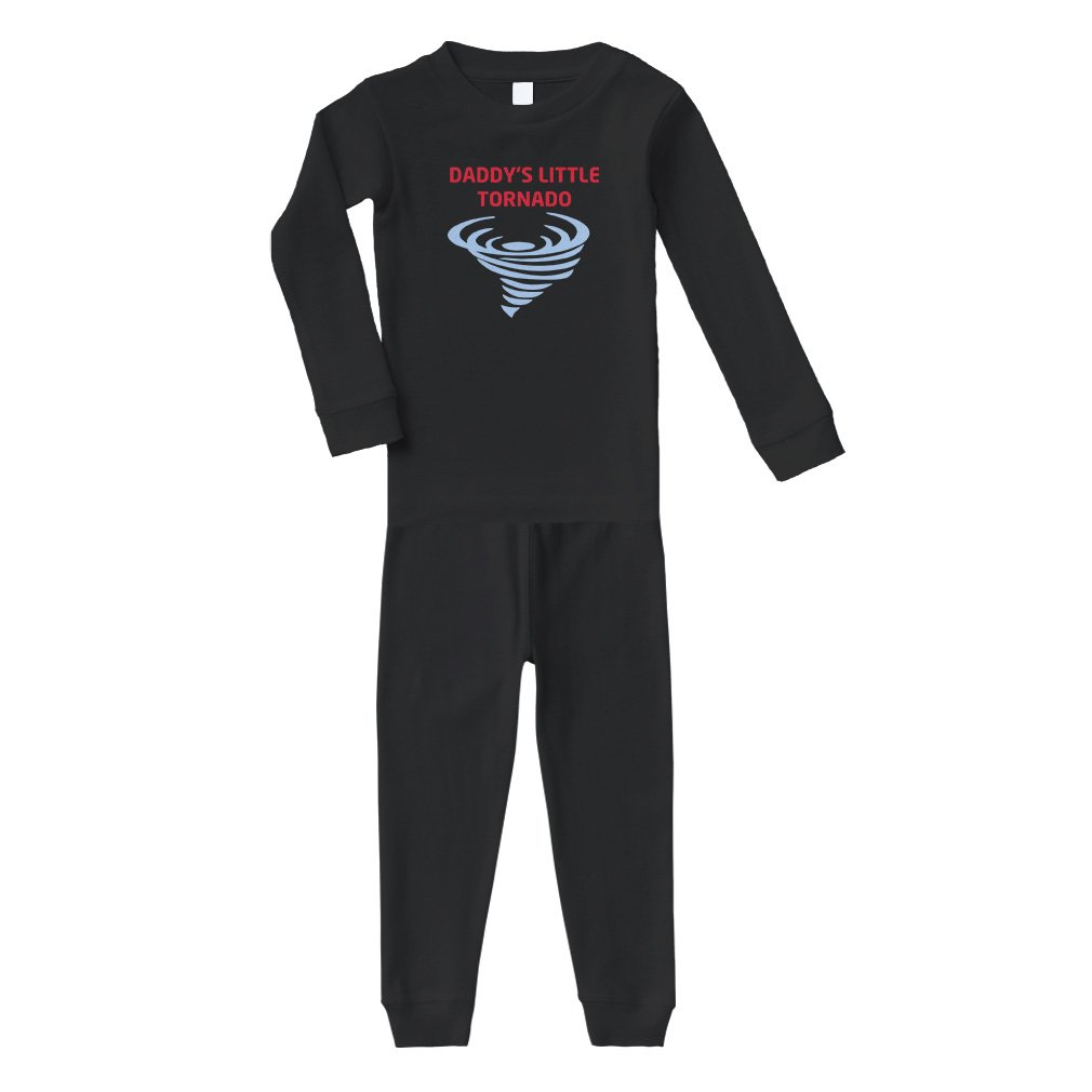 fdaea806 Amazon.com: Daddy S Little Tornado Cotton Long Sleeve Crewneck Unisex  Infant Sleepwear Pajama 2 Pcs Set Top and Pant - Black, 18 Months: Clothing