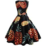 Best Dress Women Products - kaifongfu Dress,Women Vintage Printing Bodycon Sleeveless Casual Evening Review
