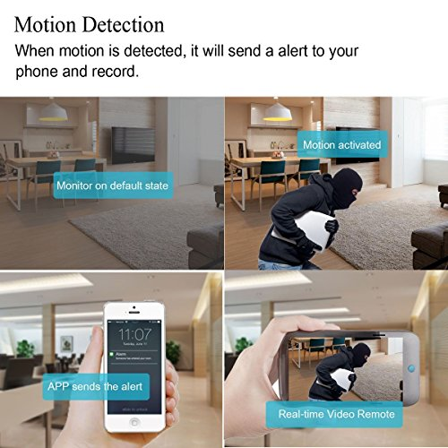 Wi-Fi Spy Hidden Camera Alarm Clock Motion Detection HD 1080P Loop Video Recorder Support Real-time Video Remote View
