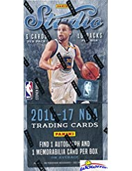 2016/17 Panini Studio Basketball Factory Sealed HOBBY Box with TWO(2) AUTOGRAPH/MEMORABILIA Cards! Look for BEN SIMMONS ROOKIE Cards that are on FIRE! WOWZZER!