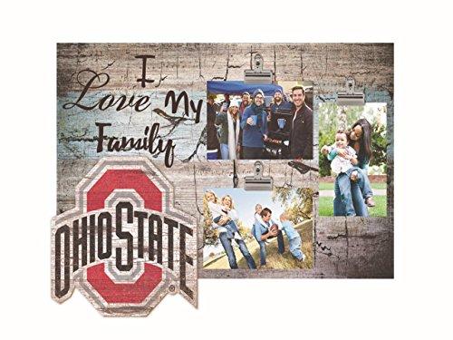 NCAA Ohio State Buckeyes I Love My Family Clip-It Photo Frame