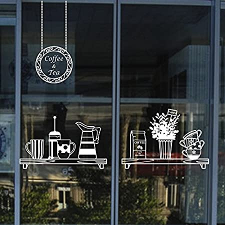 Zhfc coffee dessert shop window stickers personalized stick glass stickers creative restaurant waterproof decorative wall