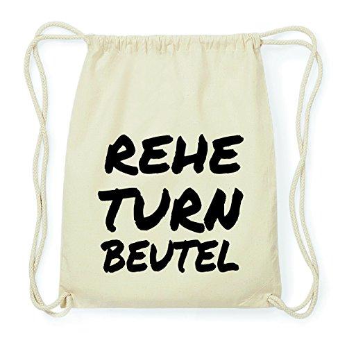 JOllify REHE Hipster Turnbeutel Tasche Rucksack aus Baumwolle - Farbe: natur Design: Turnbeutel uaVpbioQ