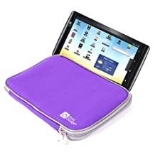 """DURAGADGET Purple Trendy Cushioned 9.7"""" Case With Dual Zips For Archos Arnova 97 G4, Archos 97 Xenon 9.7 inch LCD Tablet (ARM 1.4GHz, 512MB RAM, 4GB Memory ) & Archos ChefPad 9.7-inch Tablet (ARM Cortex A9 1.6GHz, 1GB RAM, 8GB Flash Memory, Android 4.1)"""