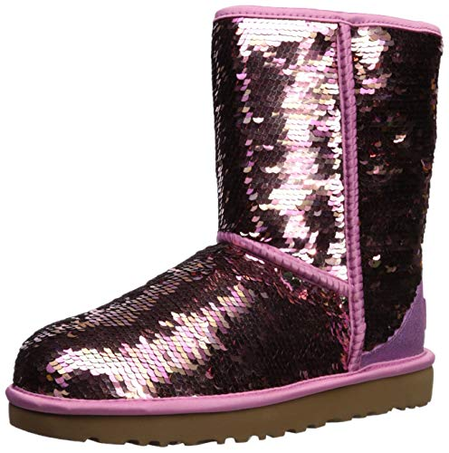 UGG Women's W Classic Short Sequin Fashion Boot, Pink, 8 M ()
