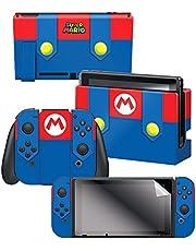 Controller Gear Nintendo Switch Skin & Screen Protector Set - Super Mario - Mario's Outfit - Nintendo Switch