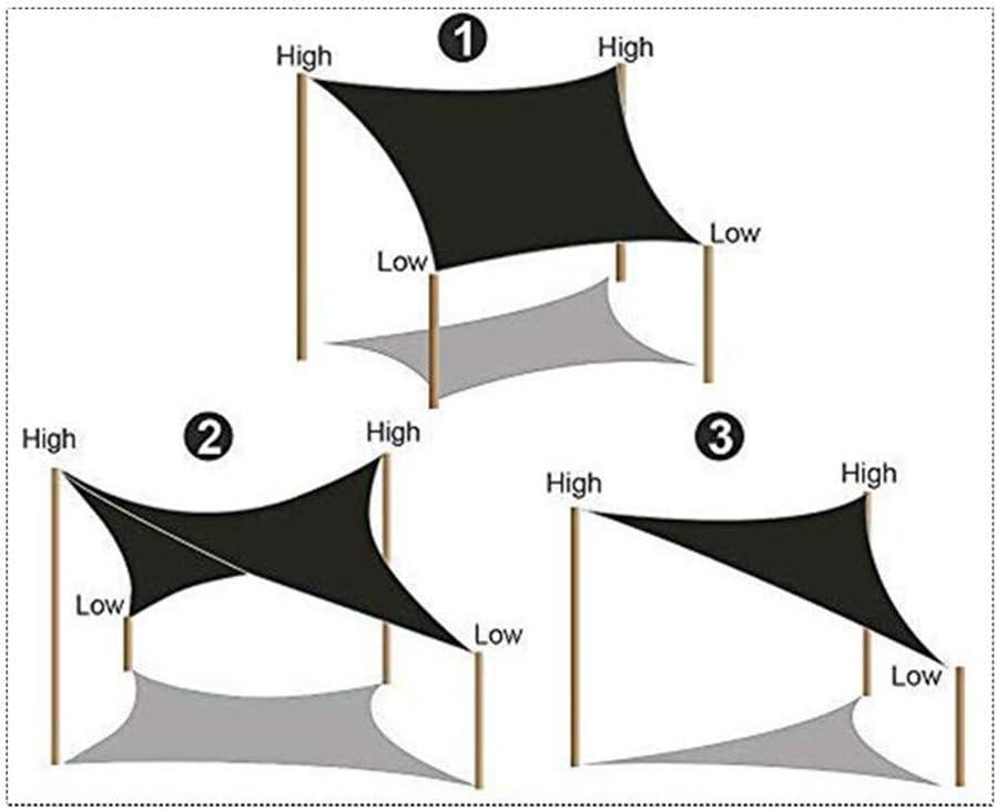 DAPAIZI Tenda da Sole A Vela Protezione Solare Rettangolo Tenda da Sole Tenda 95/% UV Block per Giardino Esterno Patio Party con Corda. 2X2m,White