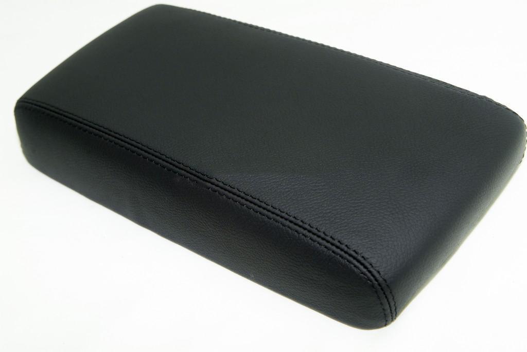 DSV Fits 1996-2004 Nissan Pathfinder Synthetic Black Leather Console Lid Armrest Cover (Vinyl Part Only)