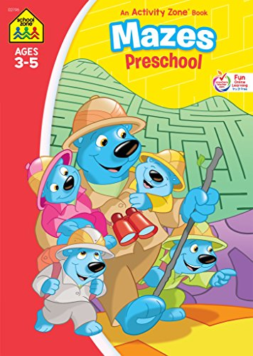 Mazes Preschool Workbook, Ages 3-5, clever scenes, playful problem-solving, develops readiness skills, take-anywhere learning